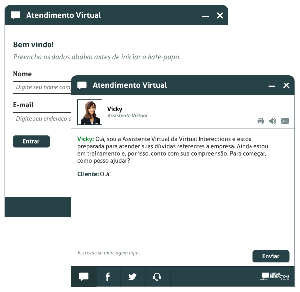 Chat Embedded Virtual Interactions